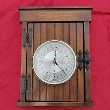 Hechinger Vintage Wooden Wall Clock