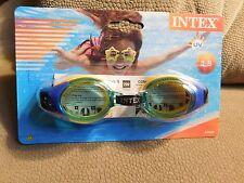 e484228cd1d9 Intex Junior Swimming Goggles~Green Yellow~Ages 3-8~Brand NEW