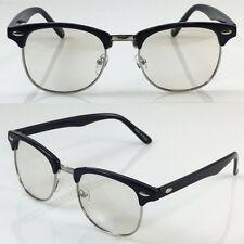 Black Silver Club master Designer Clear Lens Frames Glasses For Mens 130
