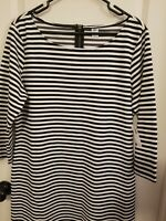 NWT Old Navy Women's Long Sleeve Shift Dress Black White Stripe Size XL