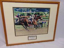 "Framed Matted photo Lemon Drop Kid 1999 Travers Stakes Saratoga Jose Santos 21"""