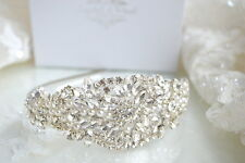 MIAMI SIDE HEADBAND Vintage Wedding Tiara Hairband Pearl Bride Rhinestone Hair