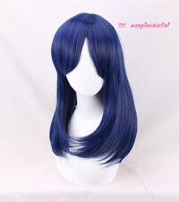 Dawn Dark Blue 50cm long Cosplay Wig +a wig cap