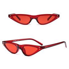 Ultra Fino Damas Cateye Gafas de Sol Rojo Y Rojo Lente pequeña cara UV400 Y154