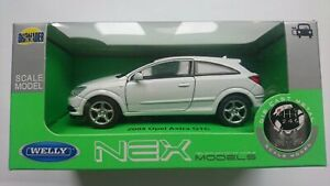 WELLY '05 OPEL VAUXHALL ASTRA GTC WHITE 1:34 DIE CAST METAL MODEL NEW IN BOX