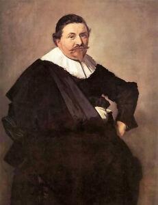 Oil painting frans hals - lucas de clercq Middle-aged man hand paint on canvas