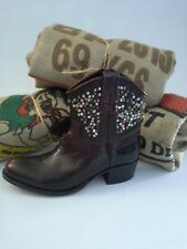 Frye Deborah Beads Hammered Studded Ankle Boot Riding Western Leather Sz 7  $598