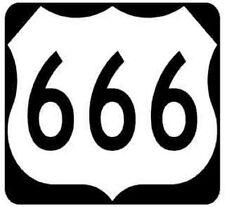 Route 666    Highway  Sign     Vinyl Bumper Sticker