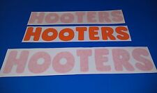 HOOTERS SPONSORSHIP DECALS - 3 DECAL PACK -  HSR SVRA IMSA GT SCCA GRAND AM