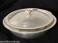 Continental Silver Vintage Hammered Aluminum Covered Server Glass Insert 1.5 Qt