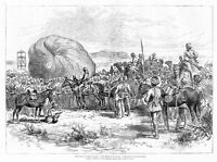 WAR IN SOUDAN, THE MARCH TO TAMAI, INFLATING THE BALLOON, CAMELS, HORSES, DONKEY