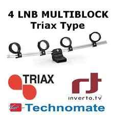 4 LNB Multiblock Holder For Triax, SAB, Technomate, Inverto Multi Feed Dish