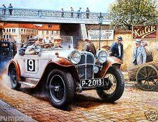 Vintage Print/Poster - Vintage Racing Cars - Race Car Model #1 17x22