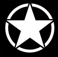 Army Military Style Star 4 inche Decal Sticker,Star,Hella, JDM,rat rod,hot rod