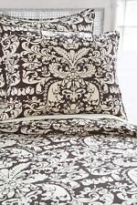 Pine Cone Hill Queen Duvet Cover Set - Gianna Damask - Chocolate Brown & Ivory