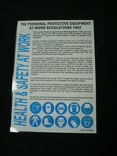 A3 Health & Safety PPE Poster PPE Sign PPE Notice