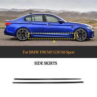 2xCarbon Seitenschweller Ansätze Schweller für BMW F90 M5 G30 540i M-Paket 18-19
