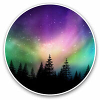 2 x Vinyl Stickers 7.5cm - Amazing Northern Lights Aurora Borealis Cool Gift #86