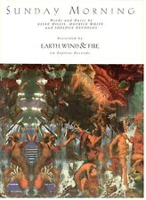 """EARTH, WIND & FIRE """"SUNDAY MORNING"""" SHEET MUSIC-PIANO/VOCAL/GUITAR/CHORDS-NEW!!"""