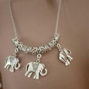 Tolle Elefanten - Kette - Tier - Afrika- Silber - Modeschmuck - Schmuck