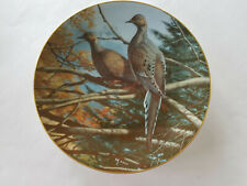 """David Maass Collector's Plate """"Mourning Doves"""" No. 1390/5000 Hoyle Products"""