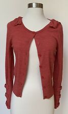 Juicy Coututure Red Marle Bow Cardigan