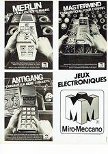 PUBLICITE ADVERTISING 0217  1981  les jeux electroniques Miro-Meccano  Merlin Ma