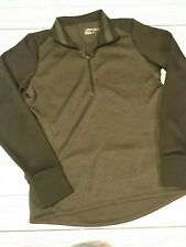 Nwt! Ladies Nike Dri-Fit 1/4 Zip Shirt, Jacket Size Medium charcoal/black Golf