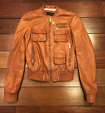 Dsquared2 Brown Leather Jacket Size 40