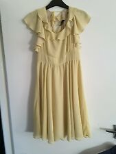 Vintage Style Topshop Yellow Dress Size 10