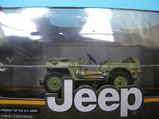 JEEP (WILLYS) C 7 1944 Military Version Sealed Item 1:43 SCALE Greenlight