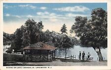 Lakewood New Jersey~Picnic Shelter~Eat Free~Sodas For Sale~Canoes for Rent~1920s