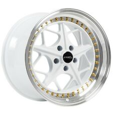 18x9.5 ARC AR2 5x114.3 +35 White Rims Fits Mazda 3 6 Rx7 Rx8 Fusion Escape