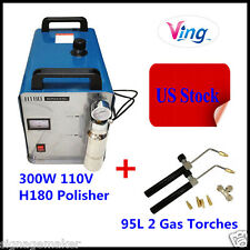 US Stock 110V H180 HHO Flame Generator Acrylic Polisher with 95L 2pc Gas Torches