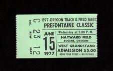 >Rare 1977 Steve PREFONTAINE CLASSIC Pre Classic ~TICKET STUB~ @ Hayward Field