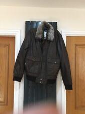Schott Brown Leather Jacket XXL Mens