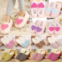 Unisex Women Men Winter Warm Plush Home Sandals Slippers Anti-Slip Indoor Shoes