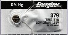 5 Energizer Watch Batteries 379/SR521SW/SR521