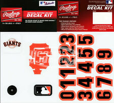 San Francisco Giants MLB Baseball Batting Helmet Rawlings Decal Kit