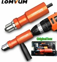 Electric Insert Rivet Nut Gun Pop Riveting Drill Tool Cordless Adaptor Nozzle