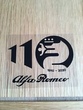 Alfa Romeo 110th Anniversary Car Window Sticker (Black/Clear)