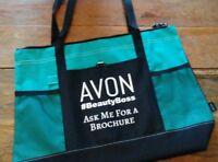 AVON Representative Tote Bag Purse **Black/Turquoise **NEW** Free Ship