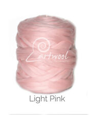 Light Pink -  1 kg 100% Merino Wool Giant Chunky Yarn Arm Knitting