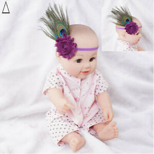 Baby Feather Headwear Stretch Baby Hair Accessories Toddler Peacock Headband