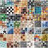 18pc 3D Mosaik Fliesenaufkleber Wandaufkleber Küche Bad Fliesenfolie Klebefolie