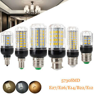 LED Corn Bulb E27 E14 12W 15W 20W 35W E12 E26 5730 SMD Bright Light Lamp Replace