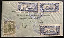 1938 Asuncion Paraguay First Flight cover to BA Argentina Zeppelin Cancel