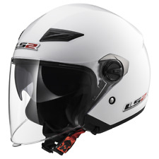 Ls2 Of569 track Sólido casco Jet Gloss blanco L