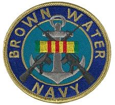 BROWN WATER NAVY VIETNAM SERVICE RIBBON PATCH PBR PATROL BOAT RIVER MOBILE MRF