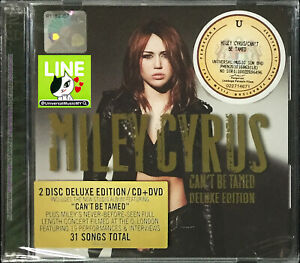 MILEY CYRUS Can't Be Tamed 2010 MALAYSIA DELUXE EDITION CD + DVD SET RARE NEW